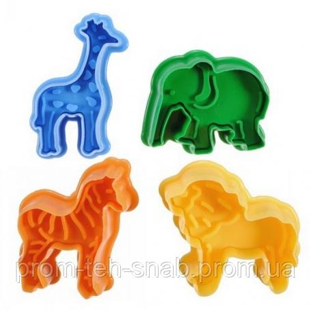 """Плунжер """"Зоопарк-Африка""""из 4х"""