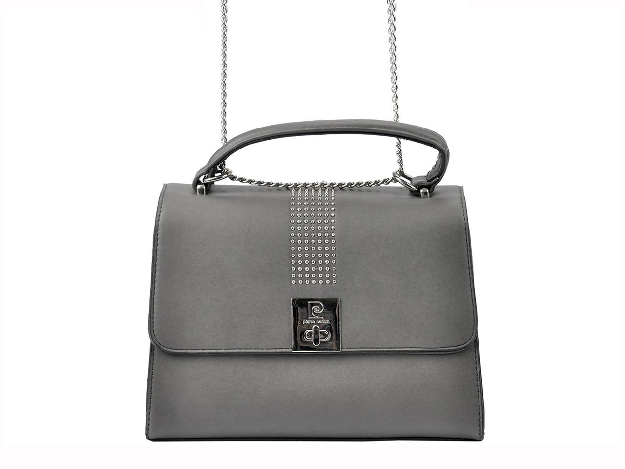 Жіноча сумка з екошкіри Pierre Cardin 3509 CLU02 Сірий