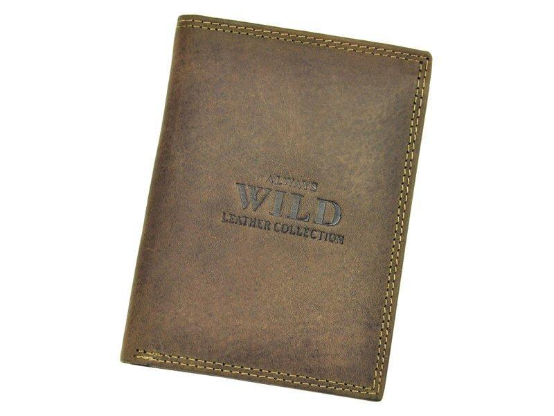 Чоловічий шкіряний гаманець Wild N890-MHU Коричневий