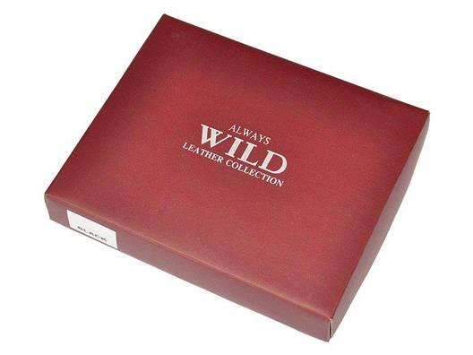 Чоловічий шкіряний гаманець Wild N890-MHU Коричневий, фото 2