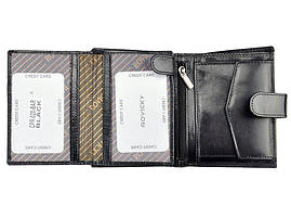 Мужской кожаный кошелек Rovicky CPR-020-BAR Черный, фото 2