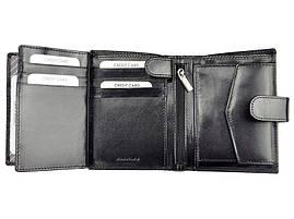 Мужской кожаный кошелек Rovicky CPR-020-BAR Черный, фото 3