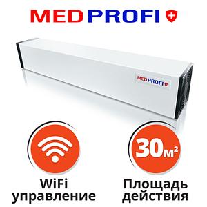Бактерицидный рециркулятор воздуха MEDPROFI 15Вт +WiFi настенный  Облучатель-рециркулятор бактерицидныый  30м2