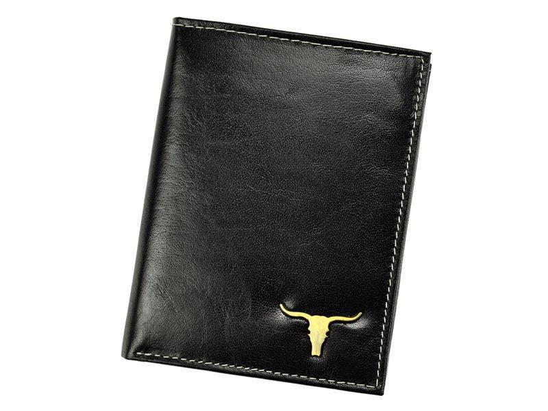 Чоловічий шкіряний гаманець Wild RM-06-BAW BUFFALO Чорний