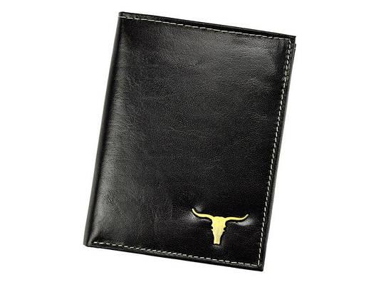 Чоловічий шкіряний гаманець Wild RM-06-BAW BUFFALO Чорний, фото 2