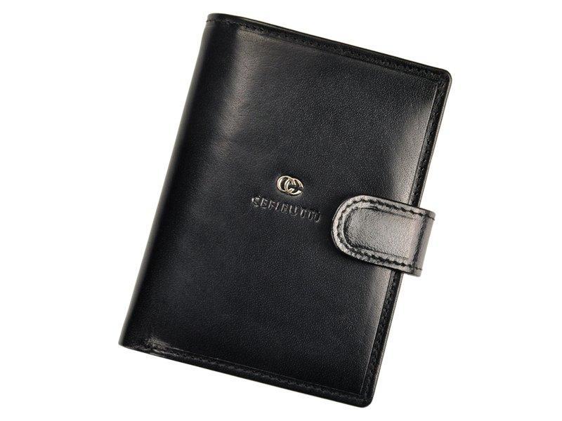 Мужской кожаный кошелек Cefirutti 7680278-5 Черный