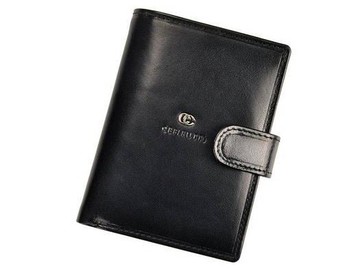 Чоловічий шкіряний гаманець Cefirutti 7680278-5 Чорний, фото 2