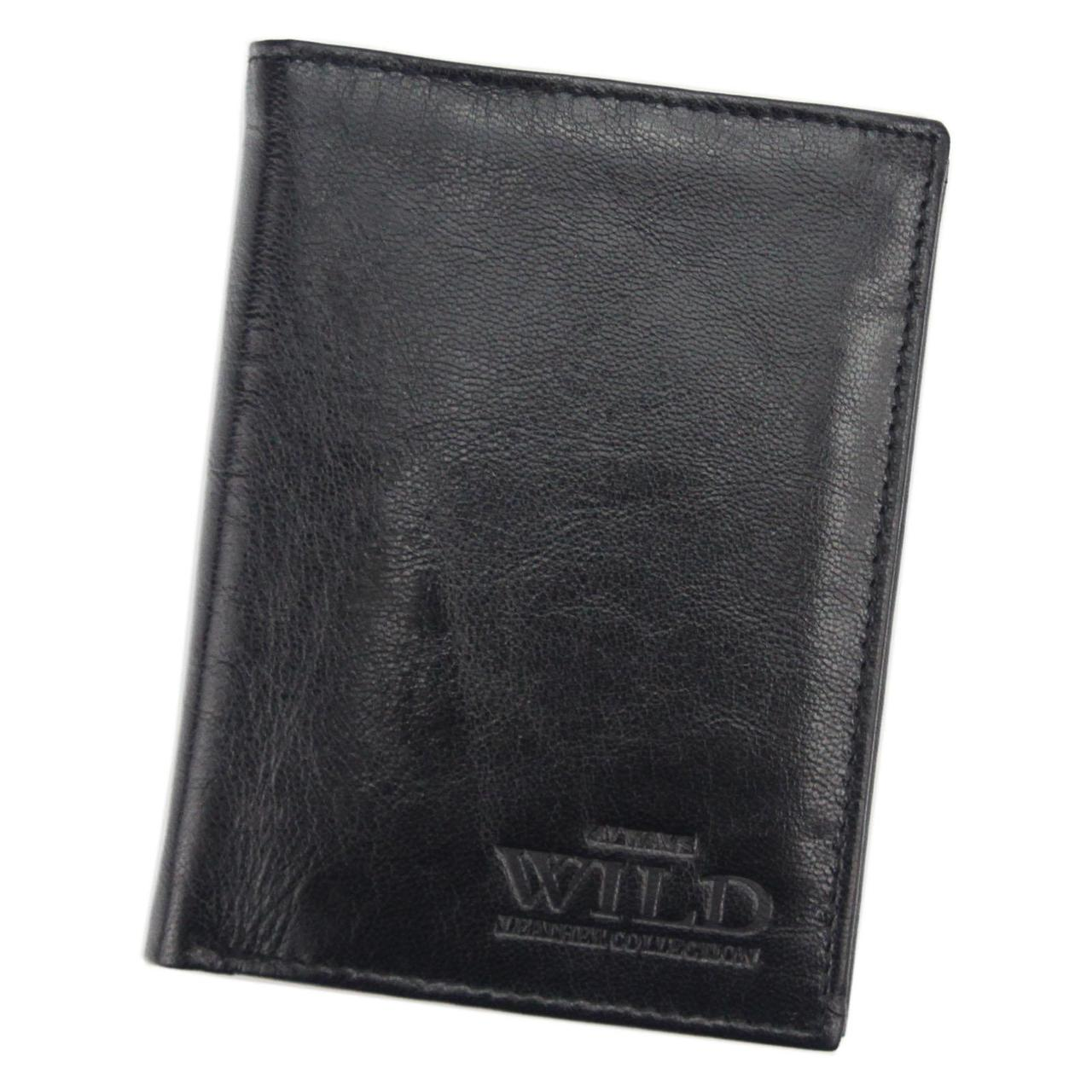 Чоловічий шкіряний гаманець Wild N4-VTK Чорний