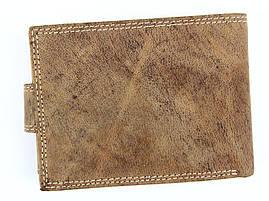 Чоловічий шкіряний гаманець Wild RMH-02L-CFL Коричневий, фото 3