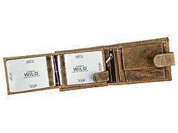 Чоловічий шкіряний гаманець Wild RMH-02L-CFL Коричневий, фото 2