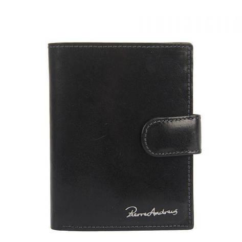 Мужской кожаный кошелек Pierre Andreus PA-N4L-VT Черный, фото 2