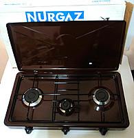 Плита газовая настольная 3 горелки Nurgaz NG 3007