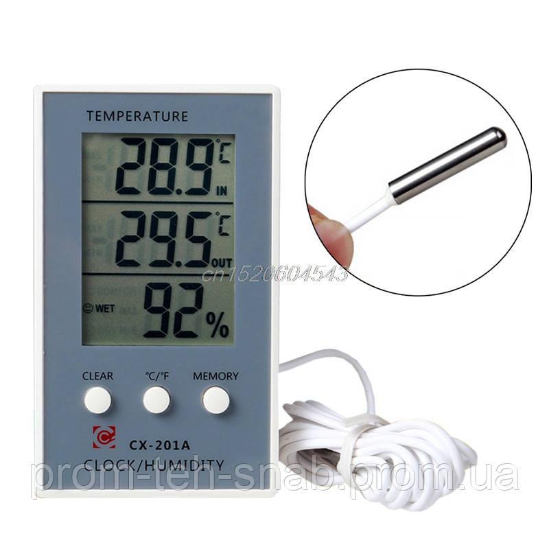 Вологомір-термометр цифровий CX-201A
