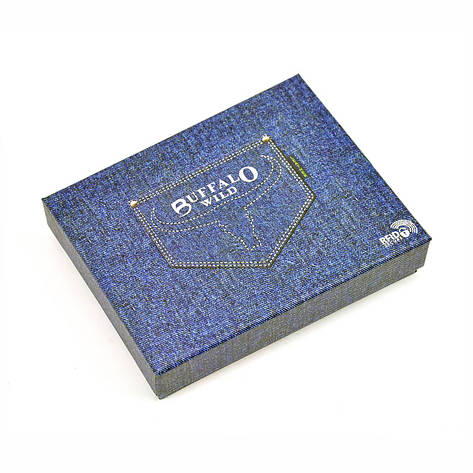 Чоловічий шкіряний гаманець Wild N1190L-HP Коричневий, фото 2