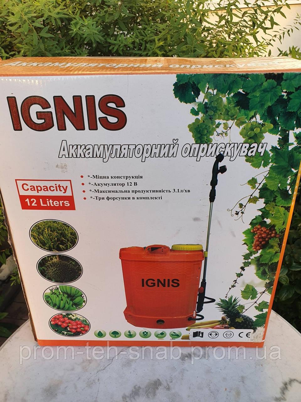 """Електричний ранцевий обприскувач """"IGNIS""""-12 літрів"""
