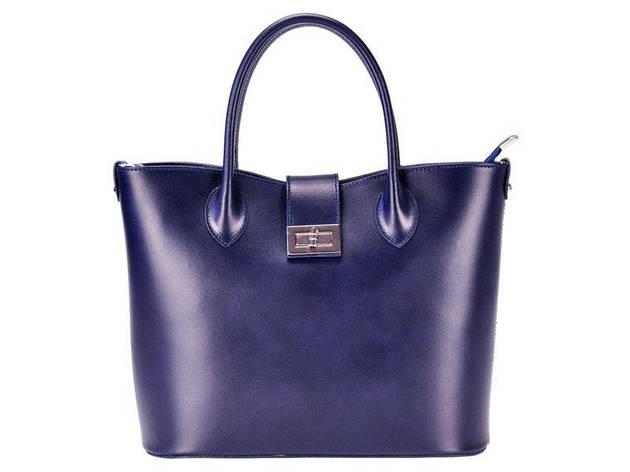 Женская кожаная сумка Luka 139 Темно-синий, фото 2