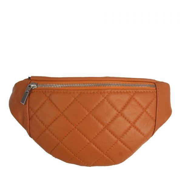 Женская кожаная сумка на пояс (бананка) Polscy KS-05D Коричневый