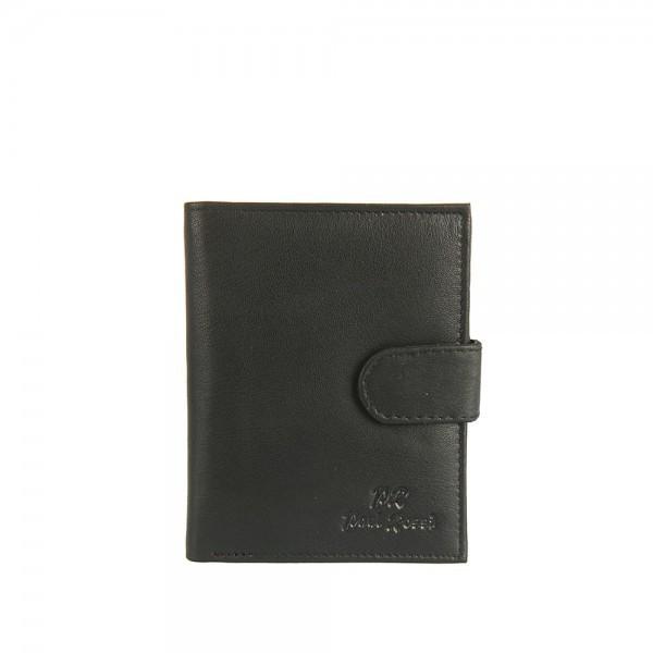 Мужской кожаный кошелек Paul Rossi N4L-GTN Черный
