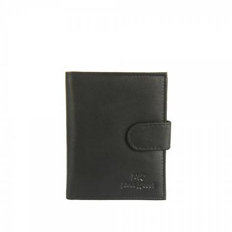 Мужской кожаный кошелек Paul Rossi N4L-GTN Черный, фото 2