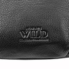 Чоловіча шкіряна сумка Wild 106-NDM Чорний, фото 3