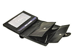 Чоловічий шкіряний гаманець Wild N890L-VTC RFID Чорний, фото 2