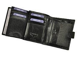 Чоловічий шкіряний гаманець Wild N890L-VTC RFID Чорний, фото 3