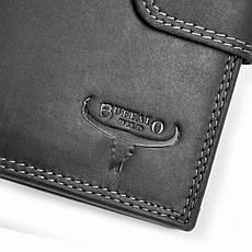 Мужской кожаный кошелек Wild N4L-B-MHU RFID BUFFALO Коричневый, фото 2