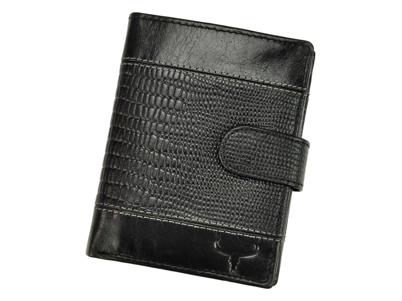 Чоловічий шкіряний гаманець BUFFALO Wild N4L-VTC RFID Чорний
