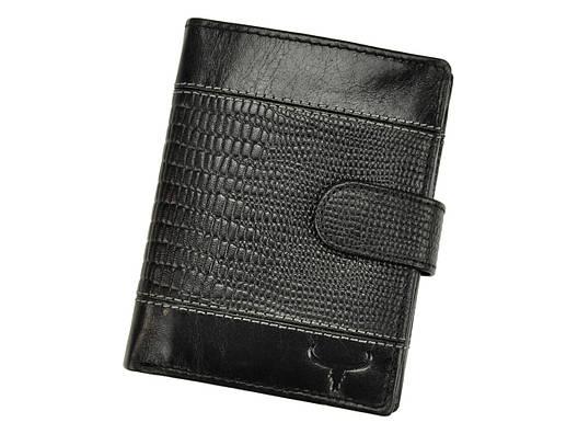 Чоловічий шкіряний гаманець BUFFALO Wild N4L-VTC RFID Чорний, фото 2