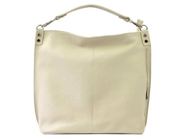 Женская кожаная сумка Patrizia Piu 318-007 Бежевый, фото 2