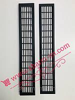 Алюминиевая вентиляционная решетка 480х80 мм Цвет - Черный мат, фото 1