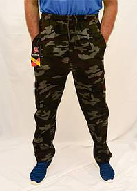 Брюки камуфляжные зимние с накладными карманами Штаны мужские на флисе - камуфляж