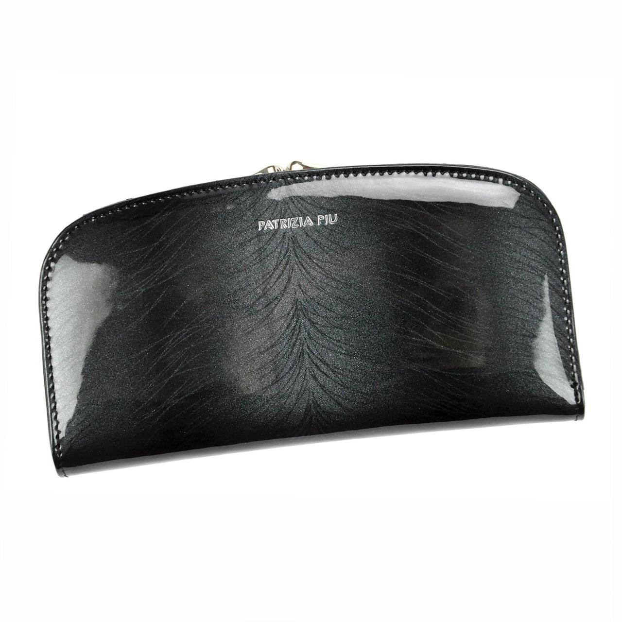 Жіночий шкіряний гаманець Patrizia Piu FF-123 RFID Темно-сірий