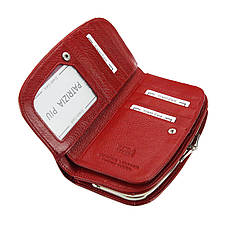 Женский кожаный кошелек Patrizia Piu FL-123 RFID Красный, фото 3