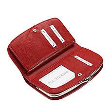 Женский кожаный кошелек Patrizia Piu FL-123 RFID Красный, фото 2