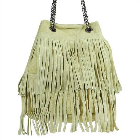 Жіноча замшева сумка 50/17 Зелений, фото 2