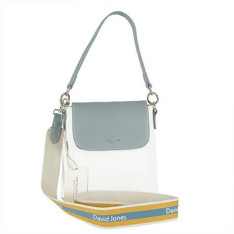Жіноча сумка з екошкіри David Jones CM5021 Блакитний, фото 2