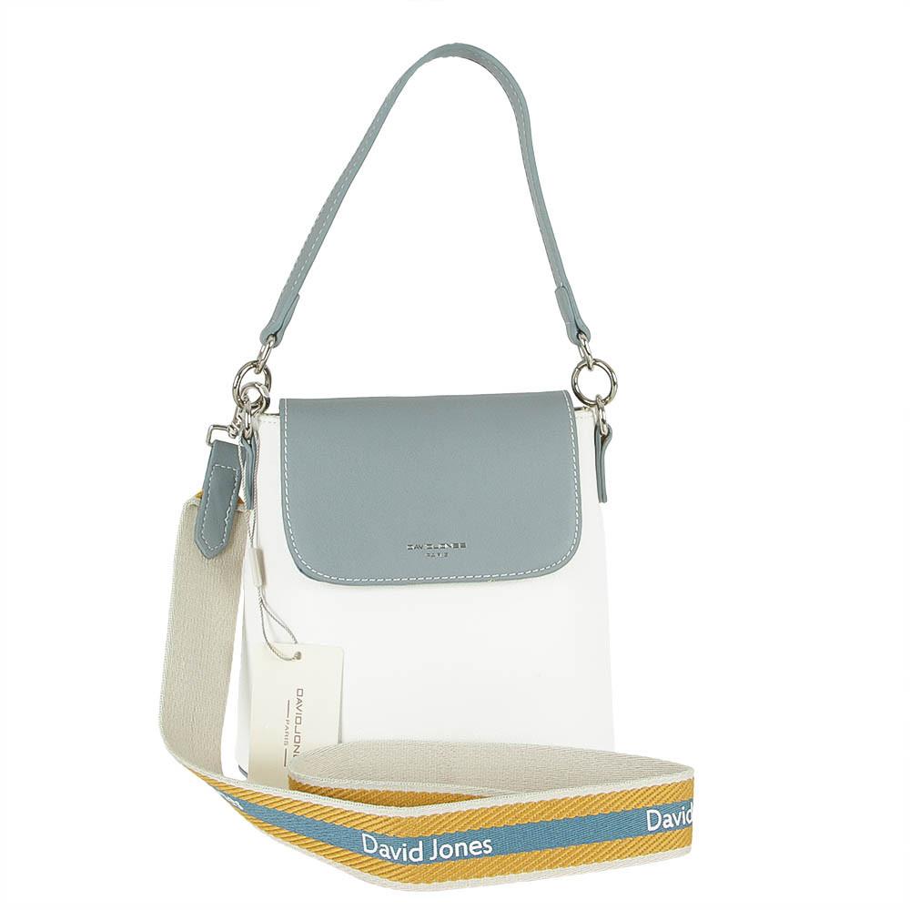 Жіноча сумка з екошкіри David Jones CM5021 Блакитний