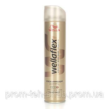 Лак для волос Wellaflex блеск и фиксация 250 мл