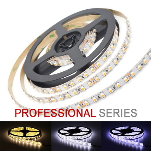 LED стрічка 3528 120 led/m 9,6 W/m IP20 12V теплий, нейтральний, холодний білий серія PROFESSIONAL