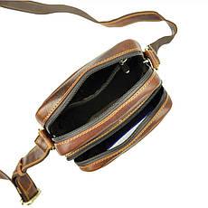 Мужская кожаная сумка Wild BUFFALO TB-011-COM Коньяк, фото 3