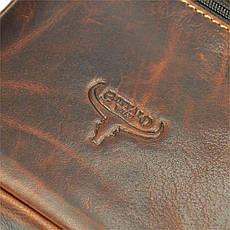 Чоловіча шкіряна сумка BUFFALO Wild TB-011-COM Коньяк, фото 3