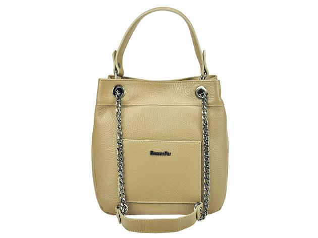 Женская кожаная сумка Patrizia Piu 118-025-1 Серо-коричневый, фото 2