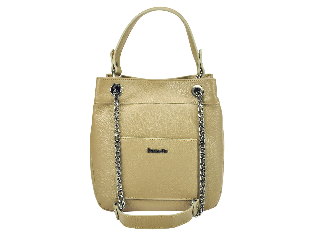 Женская кожаная сумка Patrizia Piu 118-025-1 Серо-коричневый