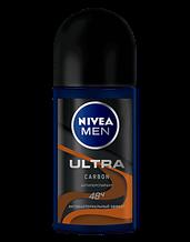 Дезодорант кульковий антиперспірант Nivea For Men Ultra Carbon антибактеріальний ефект 50 мл
