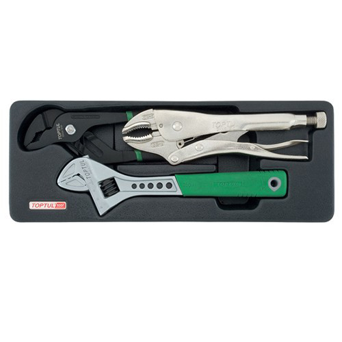 Набор шарнирно-губцевого инструмента 3 ед. (в ложементе) TOPTUL GBAT0301