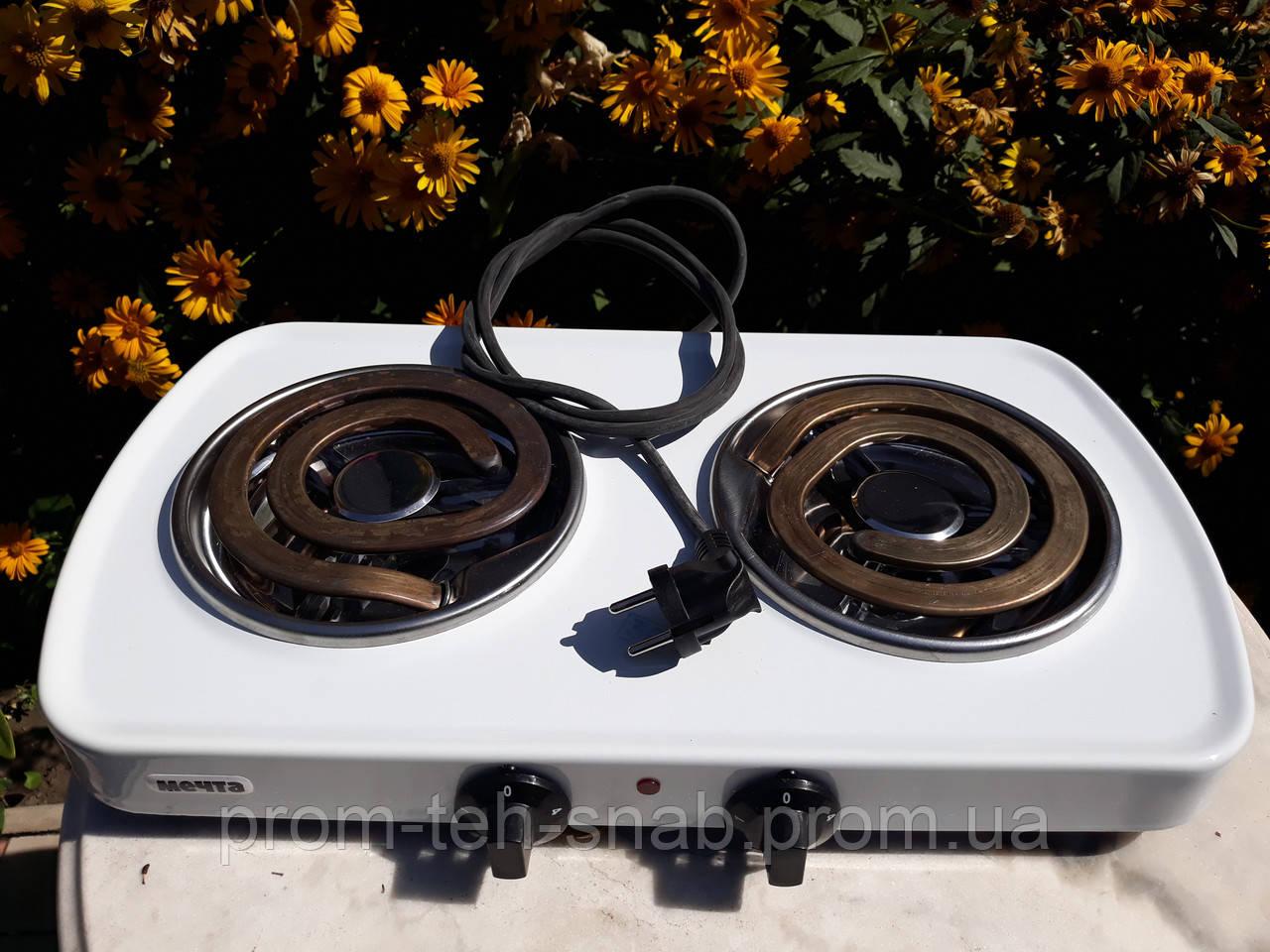 Електрична плита Мрія 212Т 2х-конф. біла