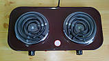 Електроплита МРіЯ ПЕ-2КС 2х конфорочна(вузький тен), фото 4