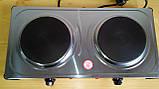 Електроплита МРіЯ ПЕН-2Д 2х конфорочна (диски,млинці) нержавіюча сталь, фото 4