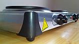 Електроплита МРіЯ ПЕН-2Д 2х конфорочна (диски,млинці) нержавіюча сталь, фото 6